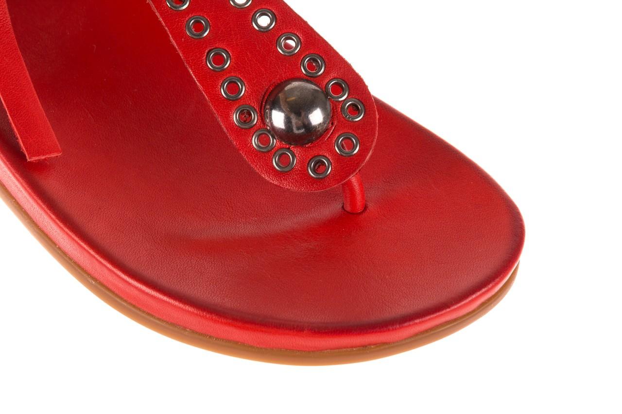 Sandały bayla-163 17-178 red, czerwony, skóra naturalna  - japonki - sandały - buty damskie - kobieta 13