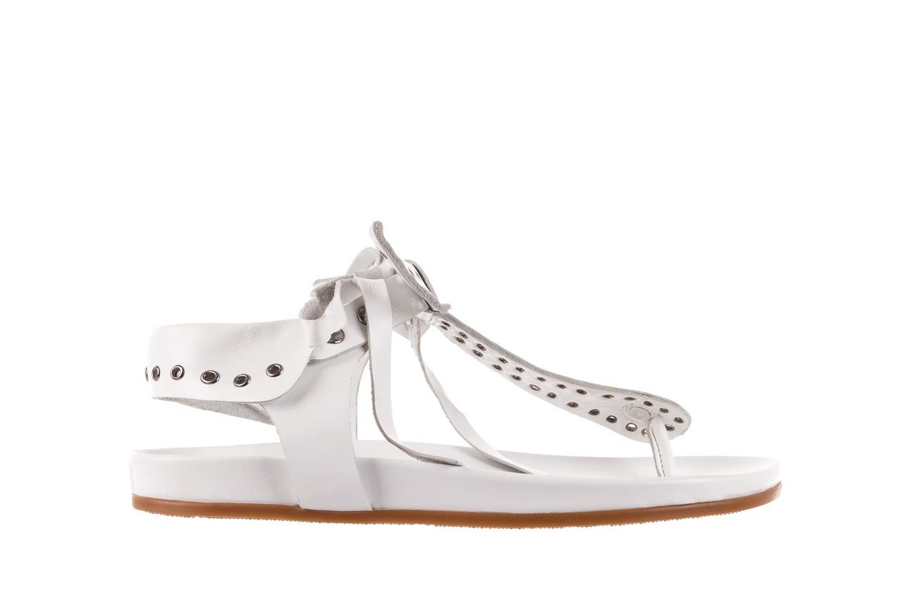 Sandały bayla-163 17-178 riga, biały, skóra naturalna  - japonki - sandały - buty damskie - kobieta 7