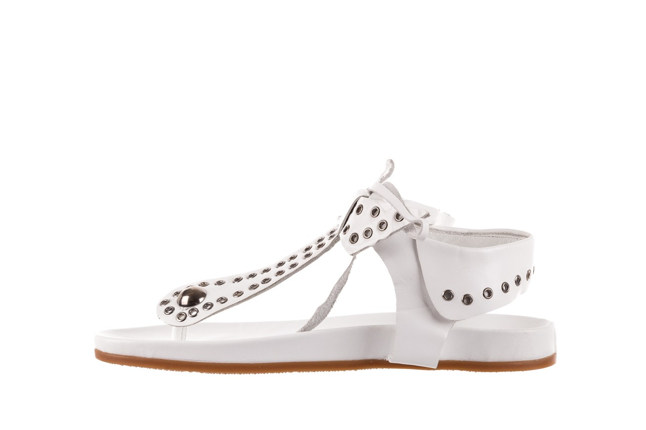 Sandały bayla-163 17-178 riga, biały, skóra naturalna  - japonki - sandały - buty damskie - kobieta 9