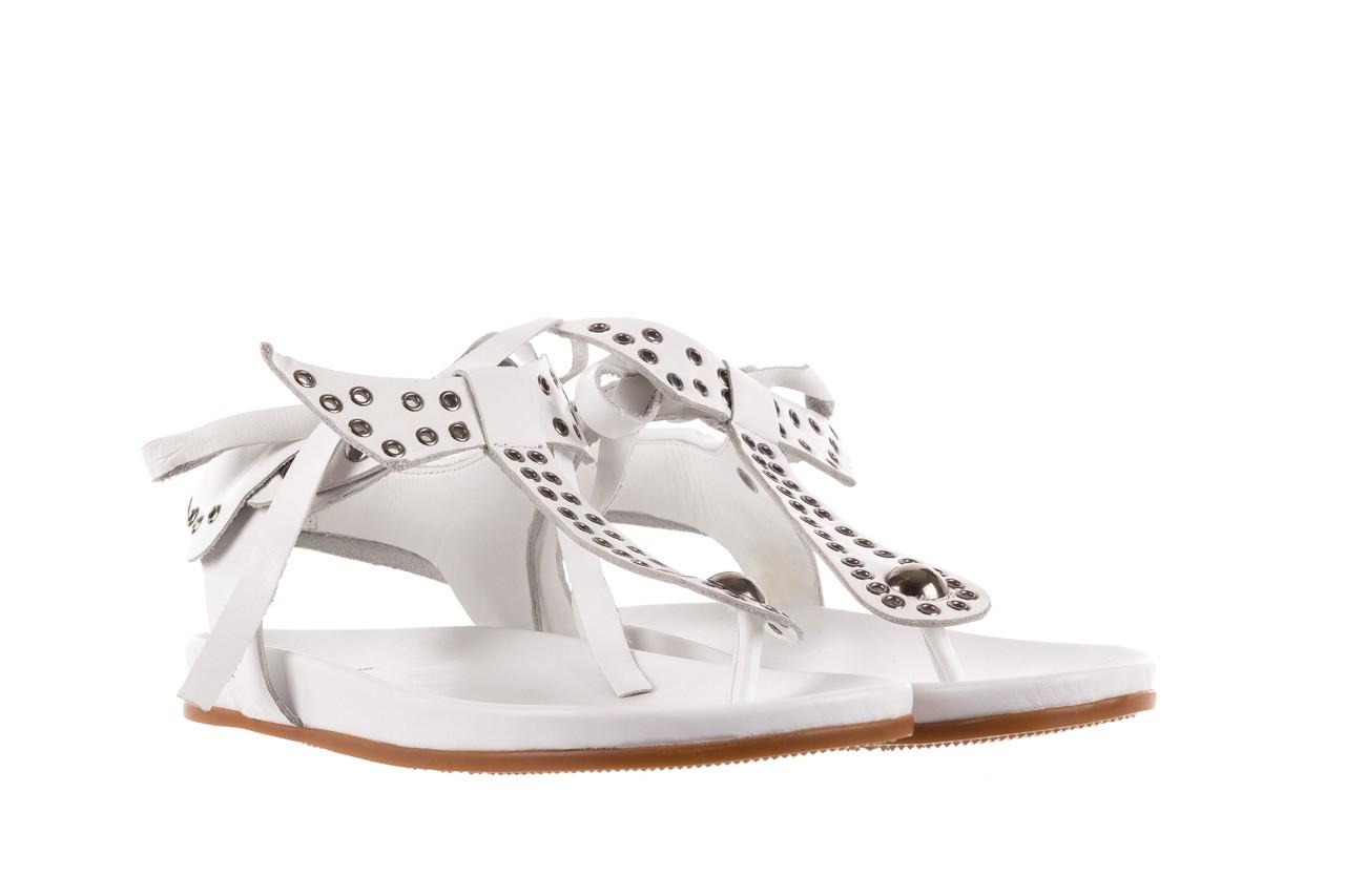 Sandały bayla-163 17-178 riga, biały, skóra naturalna  - japonki - sandały - buty damskie - kobieta 8