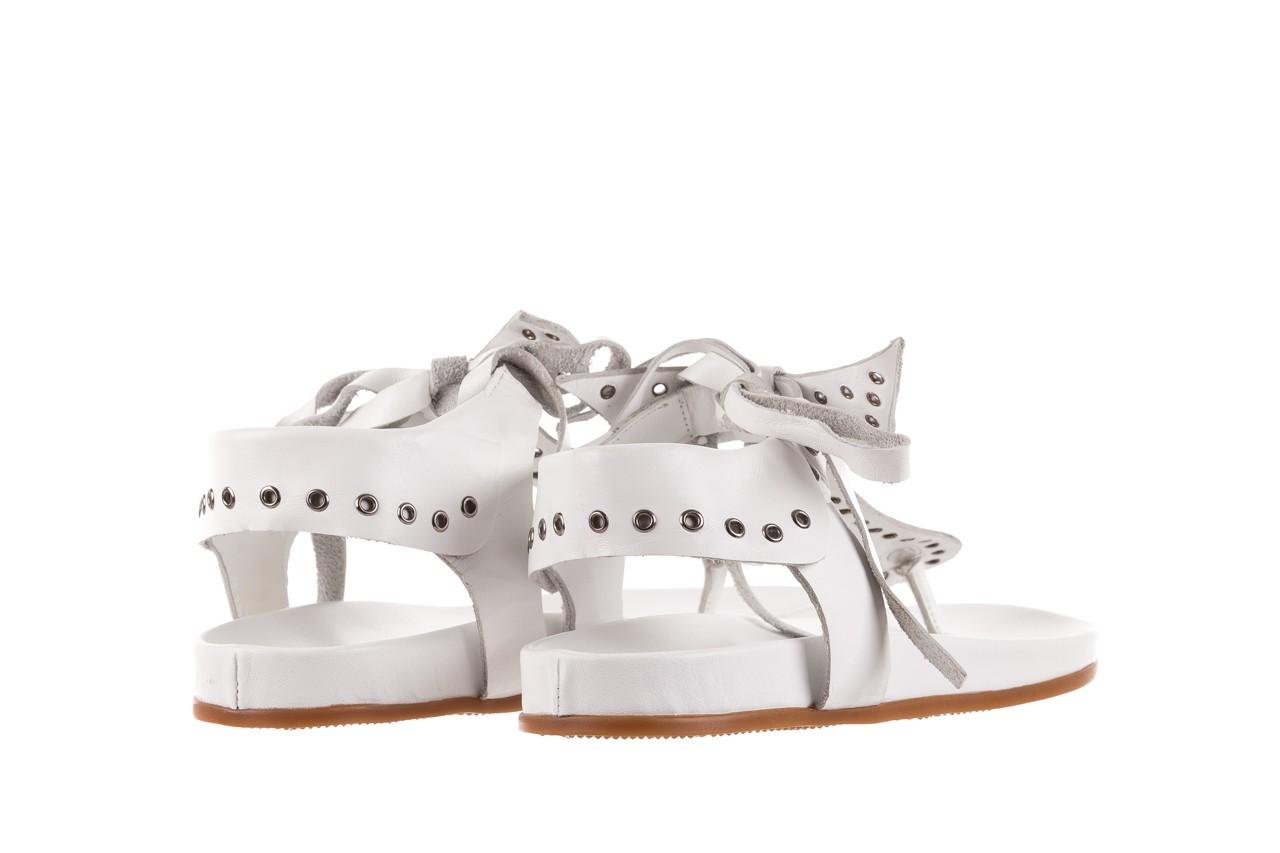 Sandały bayla-163 17-178 riga, biały, skóra naturalna  - japonki - sandały - buty damskie - kobieta 10