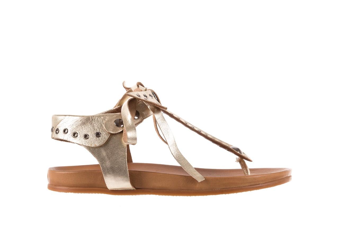 Sandały bayla-163 17-178 gold, złoty, skóra naturalna  - japonki - sandały - buty damskie - kobieta 7