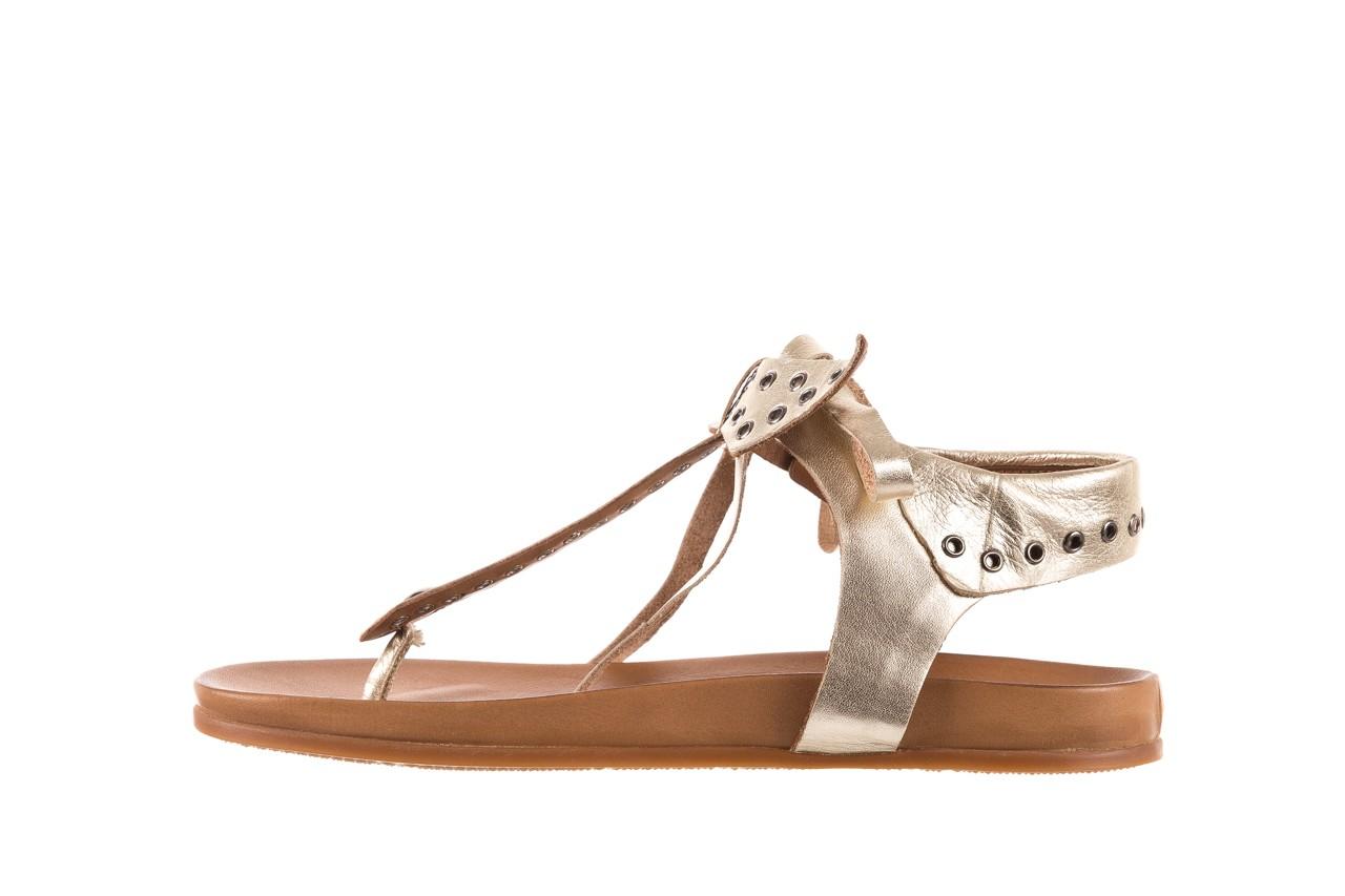 Sandały bayla-163 17-178 gold, złoty, skóra naturalna  - japonki - sandały - buty damskie - kobieta 9