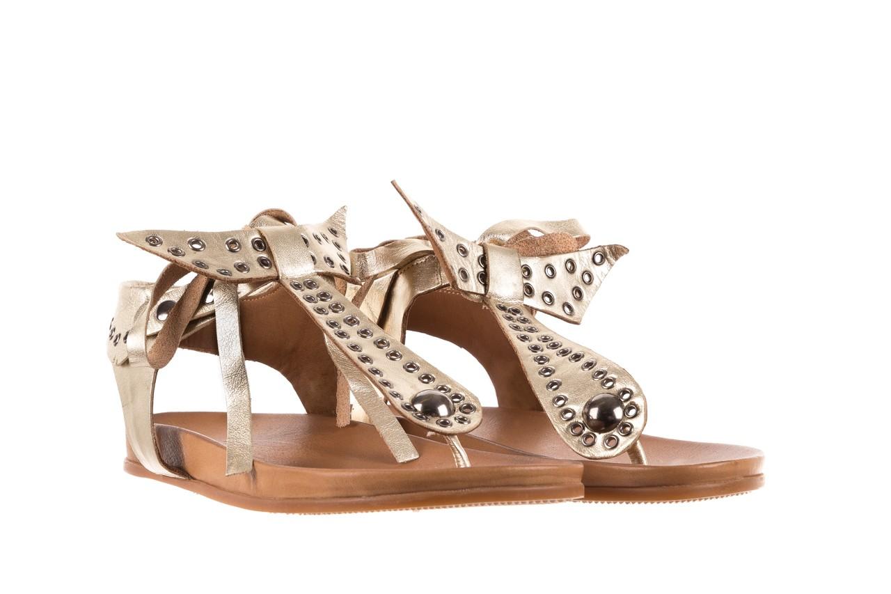 Sandały bayla-163 17-178 gold, złoty, skóra naturalna  - japonki - sandały - buty damskie - kobieta 8