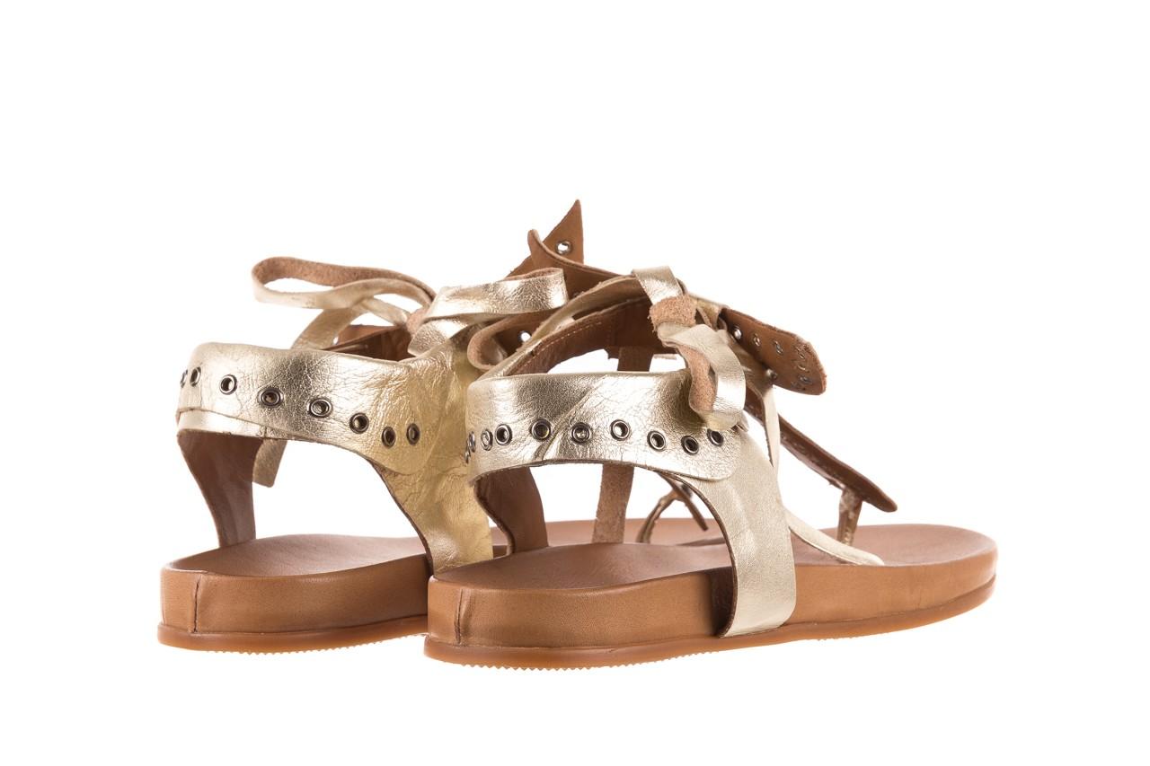 Sandały bayla-163 17-178 gold, złoty, skóra naturalna  - japonki - sandały - buty damskie - kobieta 10