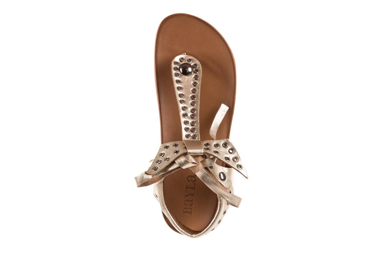 Sandały bayla-163 17-178 gold, złoty, skóra naturalna  - japonki - sandały - buty damskie - kobieta 11