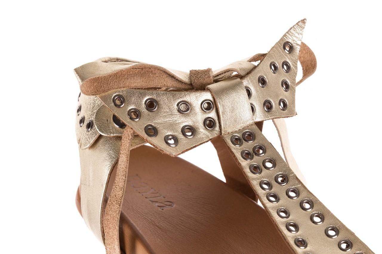 Sandały bayla-163 17-178 gold, złoty, skóra naturalna  - japonki - sandały - buty damskie - kobieta 12