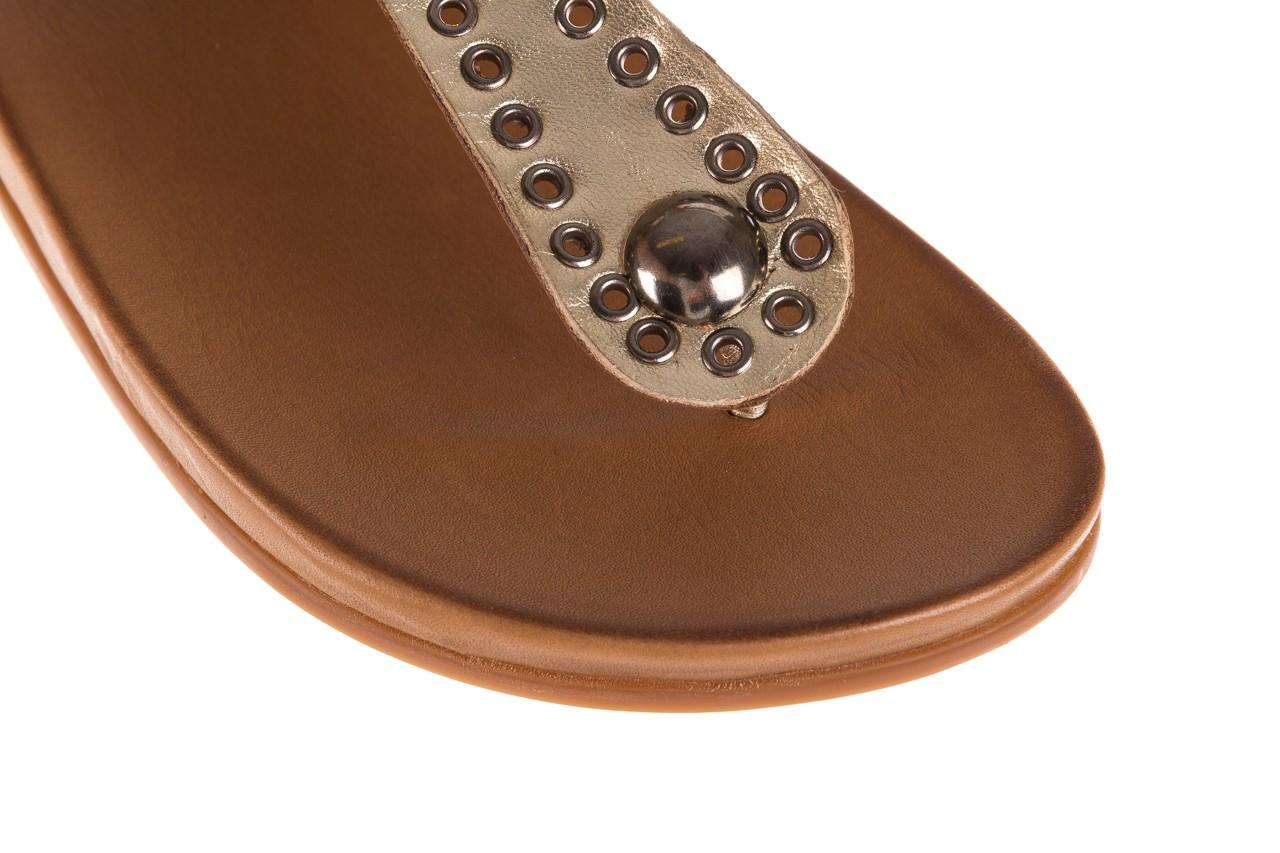 Sandały bayla-163 17-178 gold, złoty, skóra naturalna  - japonki - sandały - buty damskie - kobieta 13