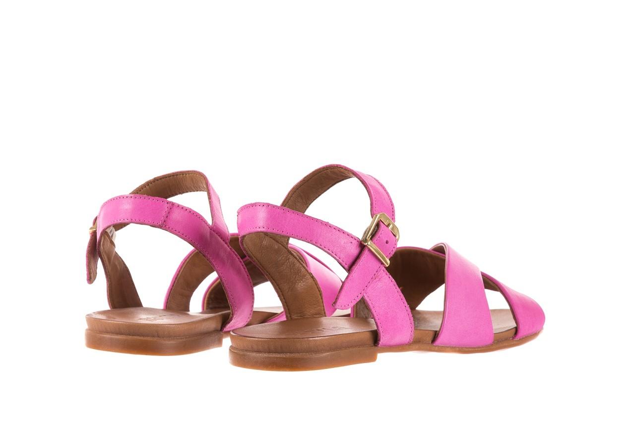 Sandały bayla-163 17-116 bead, róż, skóra naturalna 9
