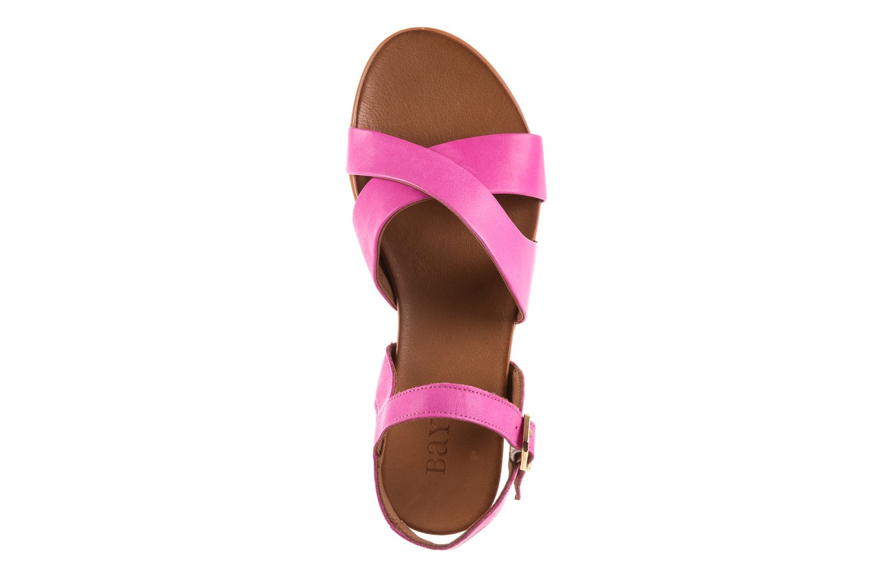 Sandały bayla-163 17-116 bead, róż, skóra naturalna 10