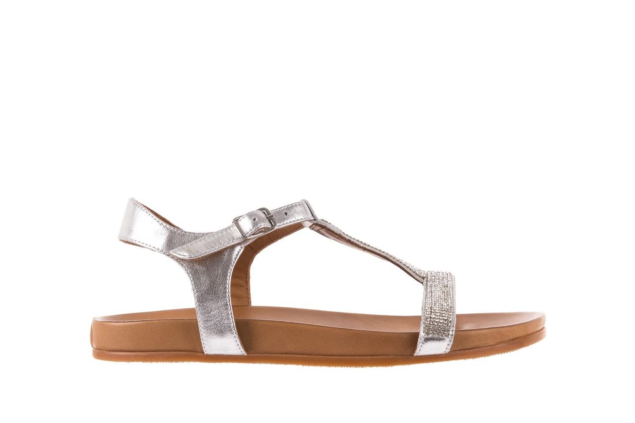 Sandały bayla-163 17-301 silver, srebrne, skóra naturalna 6
