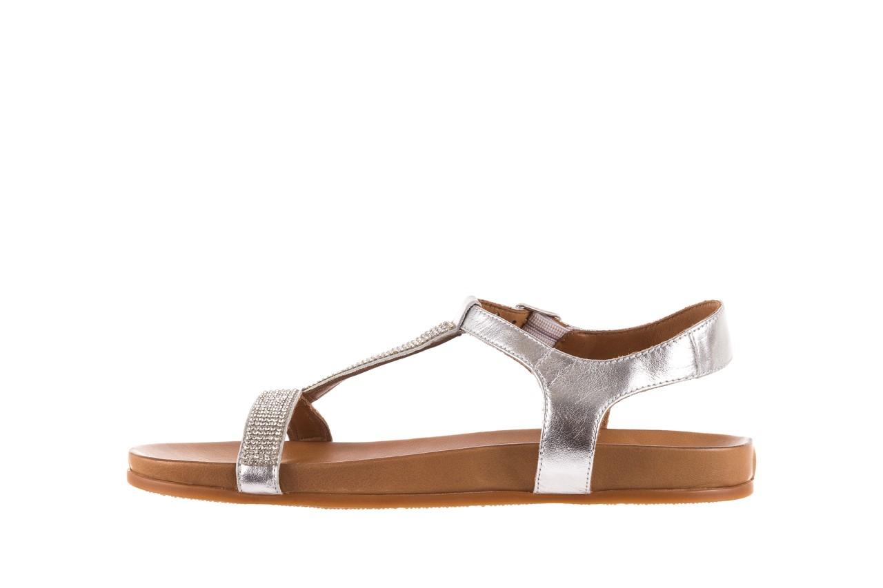 Sandały bayla-163 17-301 silver, srebrne, skóra naturalna 8