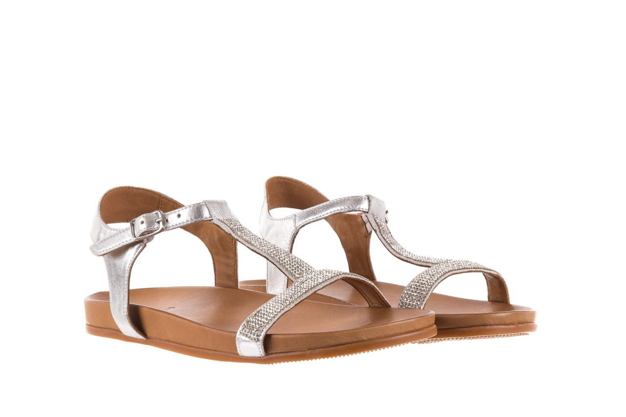 Sandały bayla-163 17-301 silver, srebrne, skóra naturalna 7