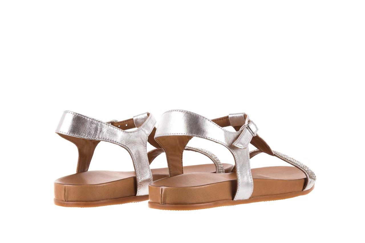 Sandały bayla-163 17-301 silver, srebrne, skóra naturalna 9
