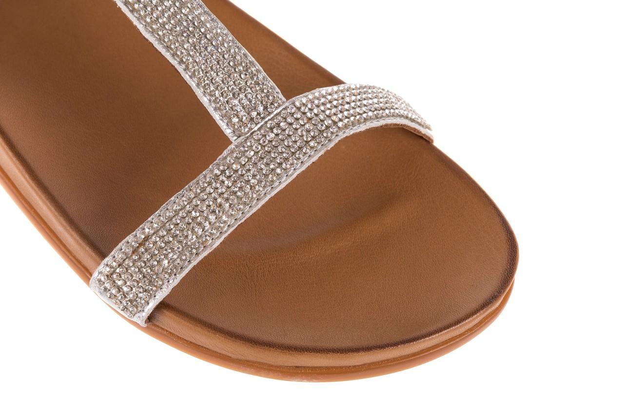 Sandały bayla-163 17-301 silver, srebrne, skóra naturalna 11