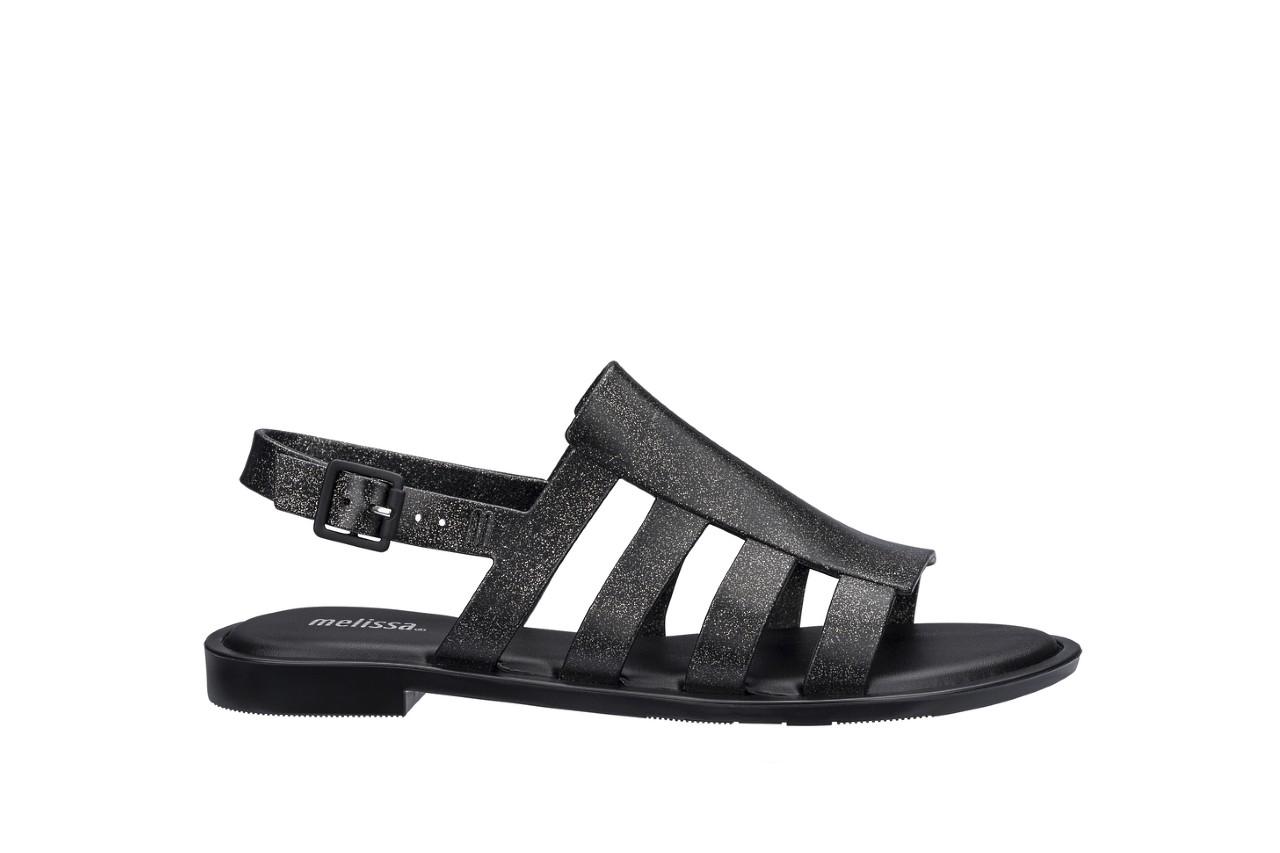 Sandały melissa boemia iii ad shine black glitter, czarny, guma - gumowe - sandały - buty damskie - kobieta 3