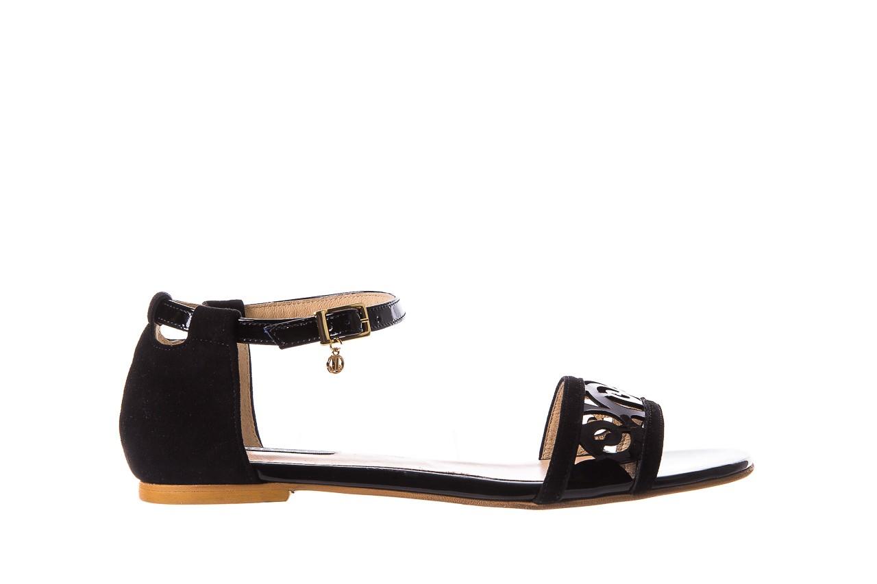 Sandały bayla-130 04278 000m-06 czarny z, skóra naturalna lakierowana - bayla - nasze marki 8