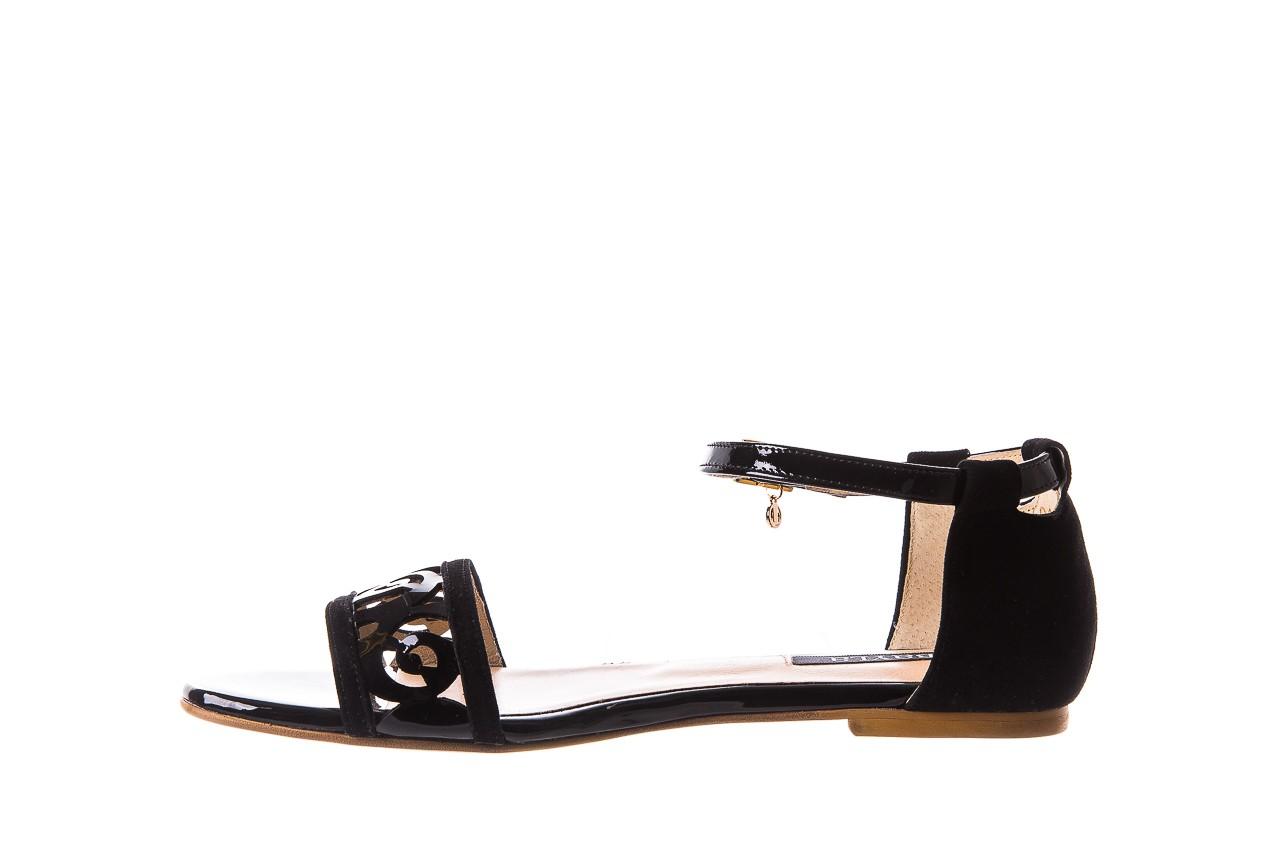 Sandały bayla-130 04278 000m-06 czarny z, skóra naturalna lakierowana - bayla - nasze marki 10