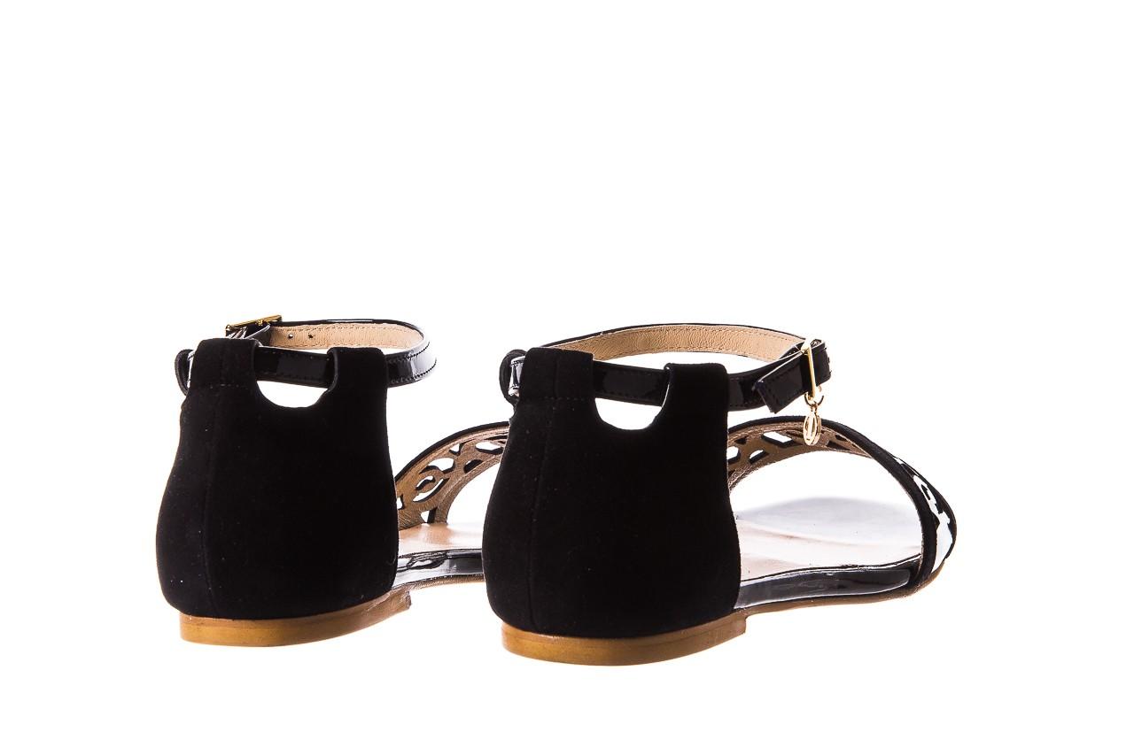 Sandały bayla-130 04278 000m-06 czarny z, skóra naturalna lakierowana - bayla - nasze marki 11
