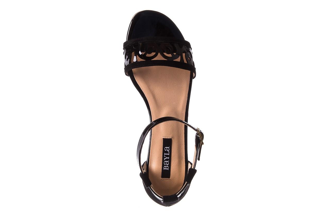 Sandały bayla-130 04278 000m-06 czarny z, skóra naturalna lakierowana - bayla - nasze marki 14