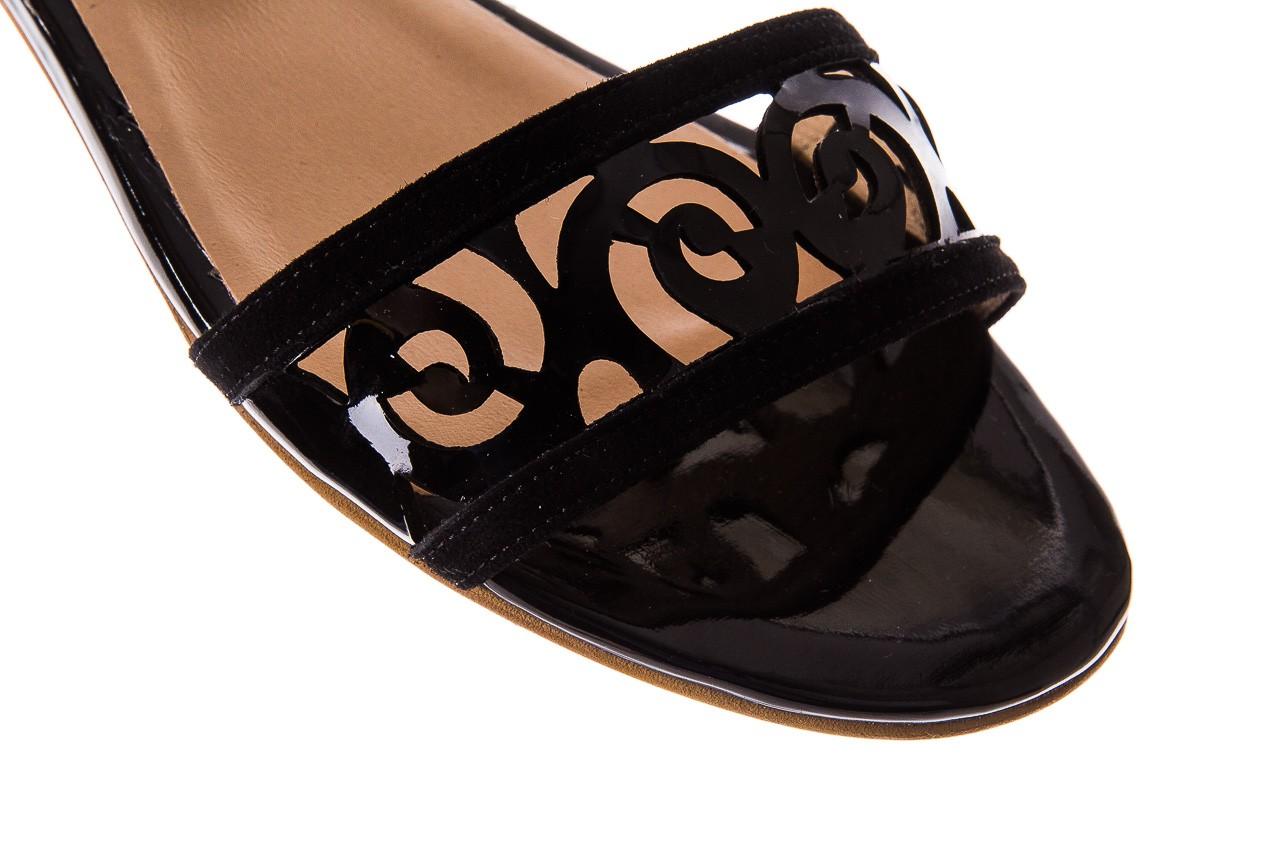 Sandały bayla-130 04278 000m-06 czarny z, skóra naturalna lakierowana - bayla - nasze marki 12
