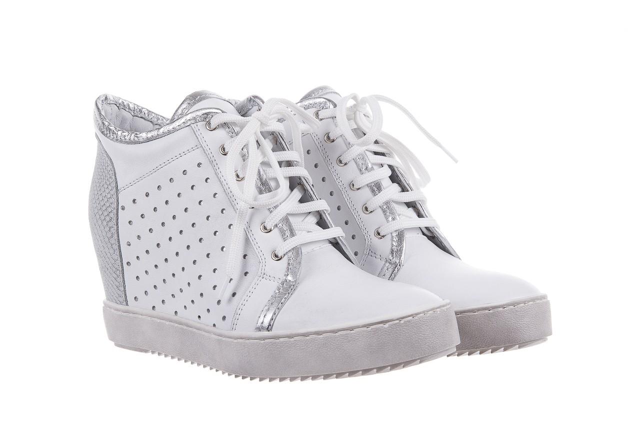 Sneakersy bayla-099 0656 biały, skóra naturalna  - bayla - nasze marki 7