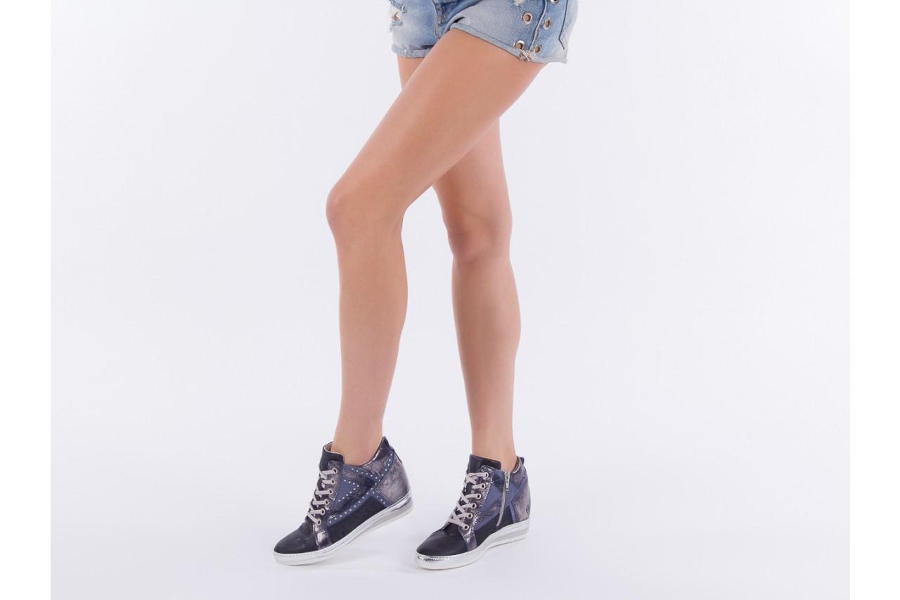 Sneakersy bayla-131 7113 oceano, granat, skóra naturalna  - bayla - nasze marki 13