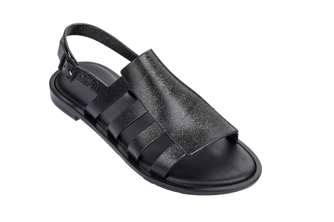 Sandały melissa boemia iii ad shine black glitter, czarny, guma - gumowe - sandały - buty damskie - kobieta 4