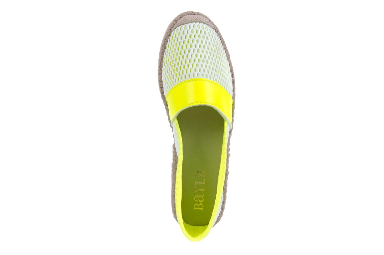 Espadryle bayla-115 104130 amarillo, żółty/ biały, materiał  - espadryle - dla niej  - sale 11