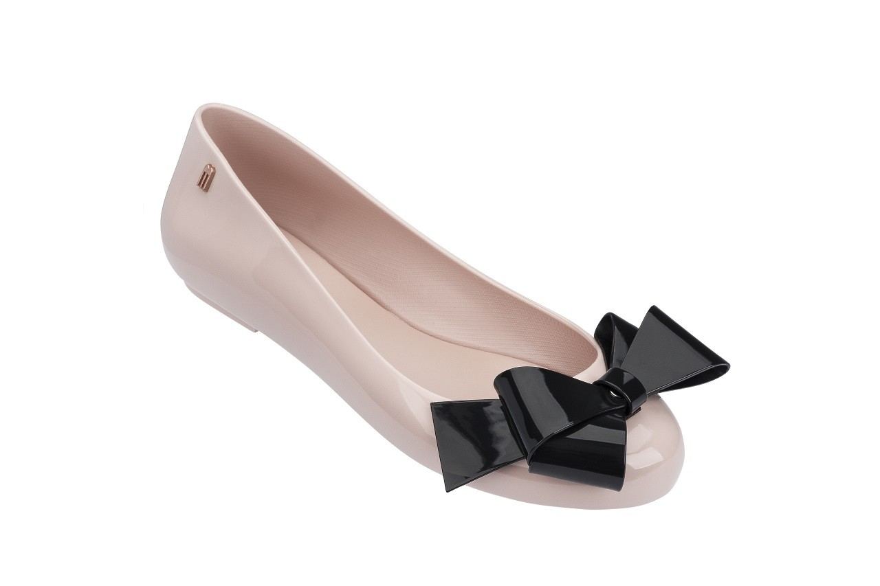 Baleriny melissa space love iv ad pink black 18 010246, róż/czarny, guma - melissa - nasze marki 4