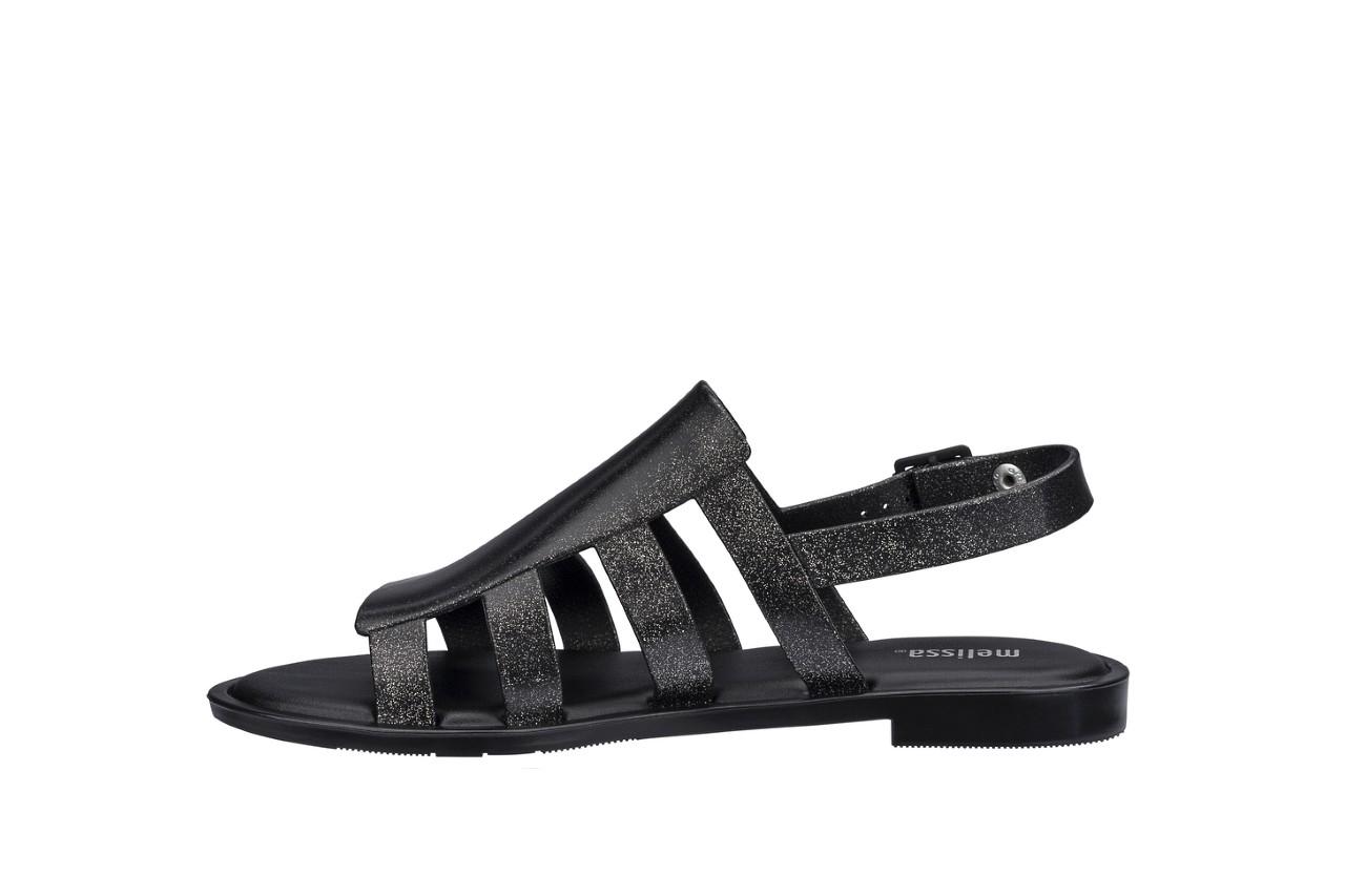 Sandały melissa boemia iii ad shine black glitter, czarny, guma - gumowe - sandały - buty damskie - kobieta 5