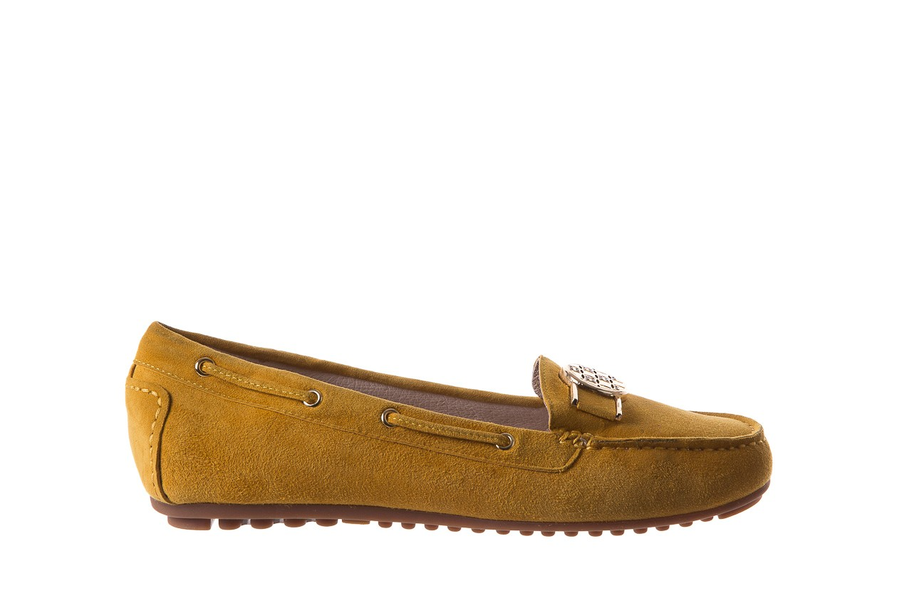 Mokasyny bayla-018 3173-335 yellow 018545, żółty, skóra naturalna  - bayla - nasze marki 7