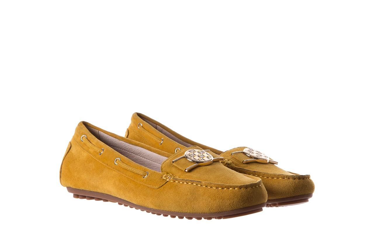 Mokasyny bayla-018 3173-335 yellow 018545, żółty, skóra naturalna  - bayla - nasze marki 8