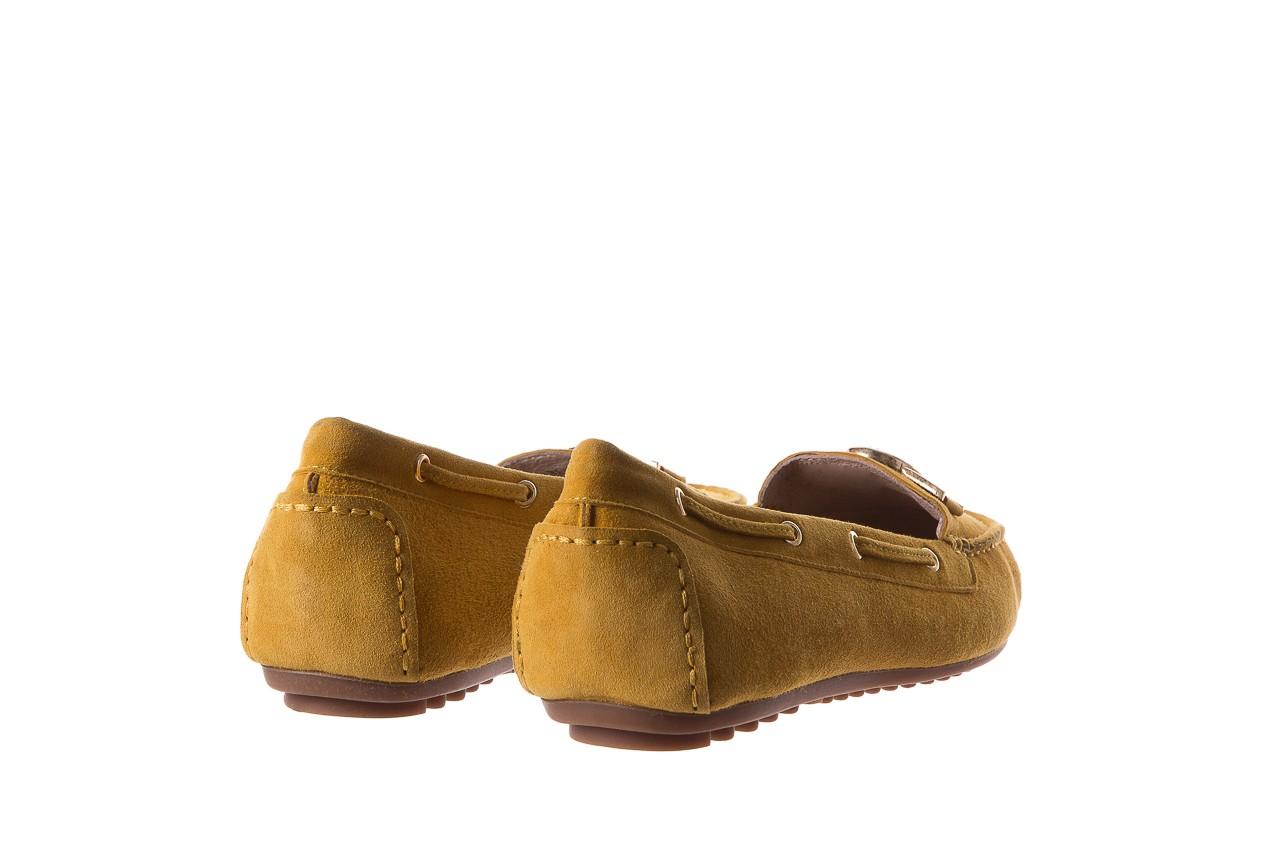 Mokasyny bayla-018 3173-335 yellow 018545, żółty, skóra naturalna  - bayla - nasze marki 10