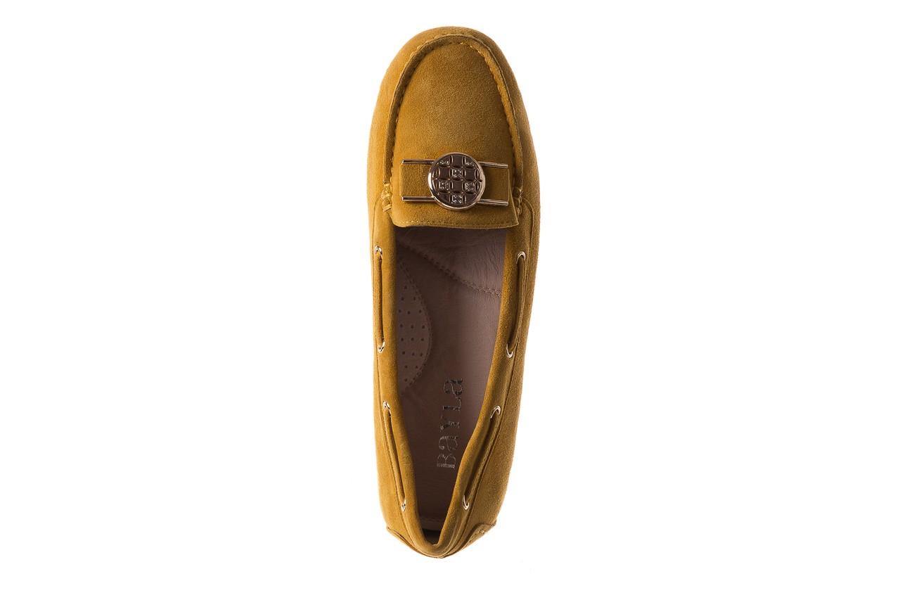 Mokasyny bayla-018 3173-335 yellow 018545, żółty, skóra naturalna  - bayla - nasze marki 11