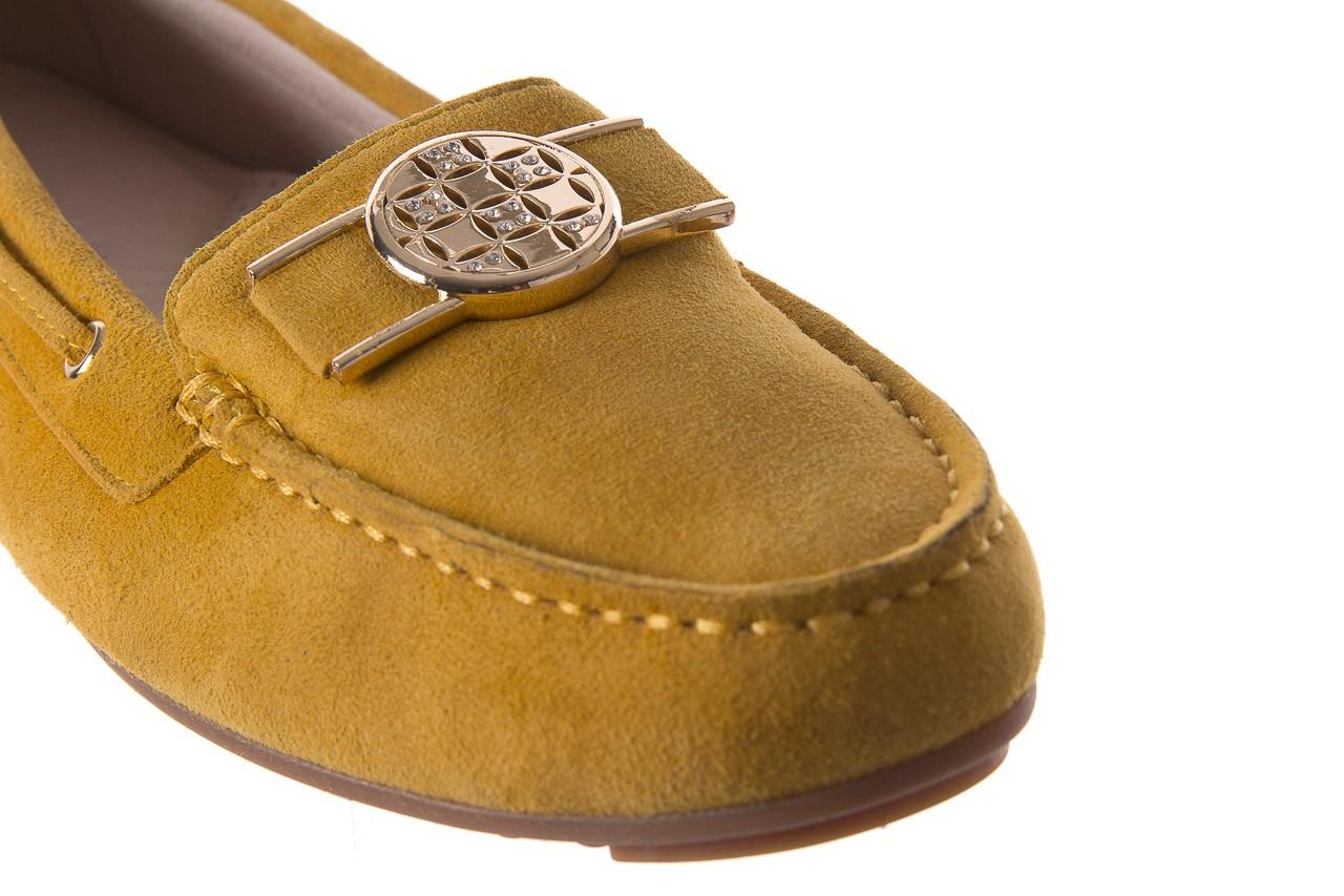 Mokasyny bayla-018 3173-335 yellow 018545, żółty, skóra naturalna  - bayla - nasze marki 12