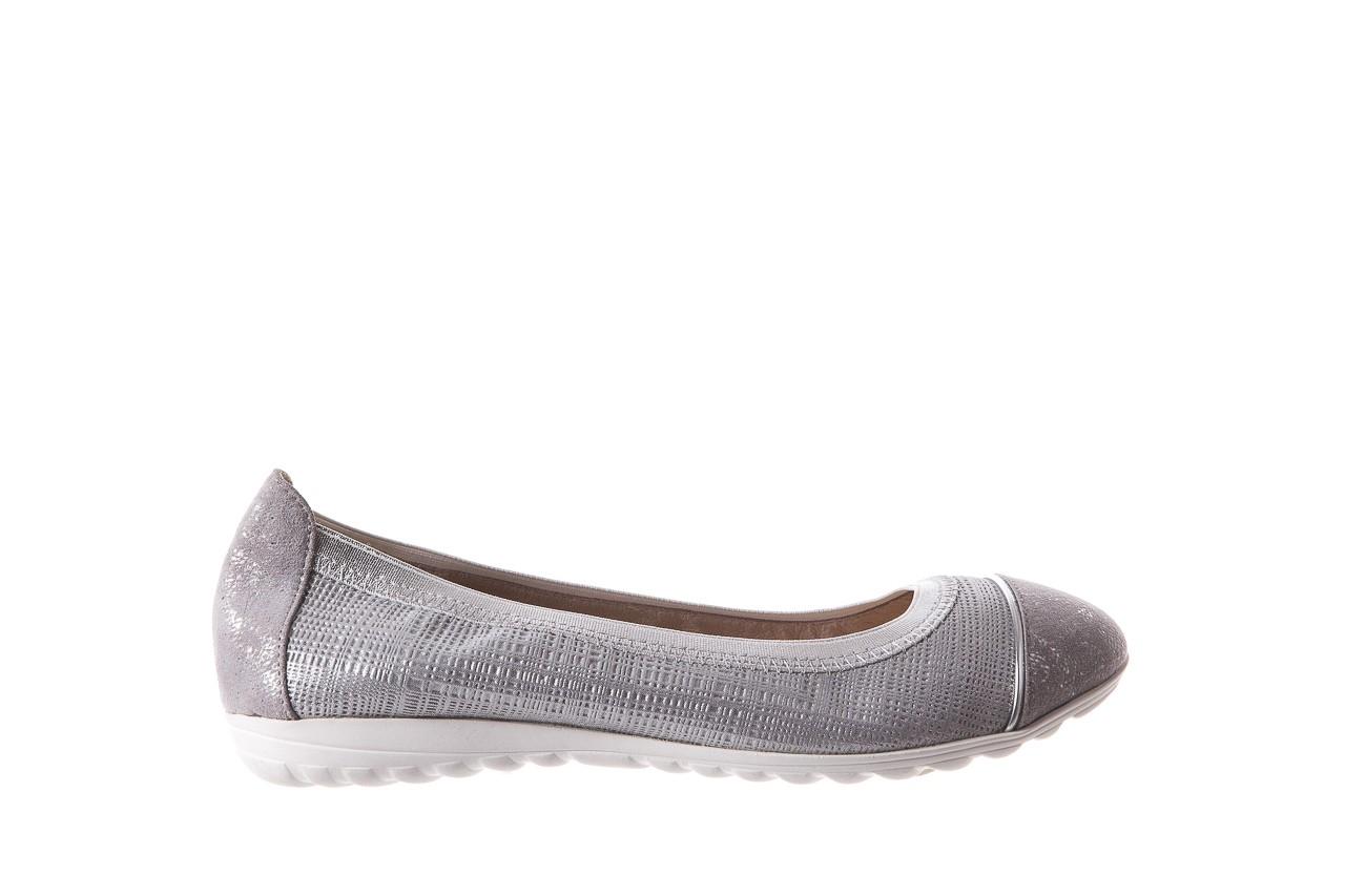 Baleriny bayla-018 1831-5 lt. grey lt. grey silver 018533, szary/srebrny, skóra naturalna 7