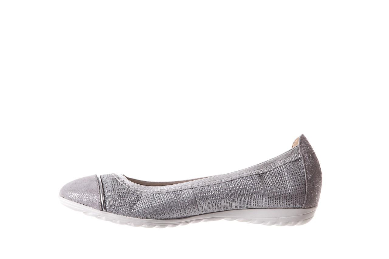 Baleriny bayla-018 1831-5 lt. grey lt. grey silver 018533, szary/srebrny, skóra naturalna 9