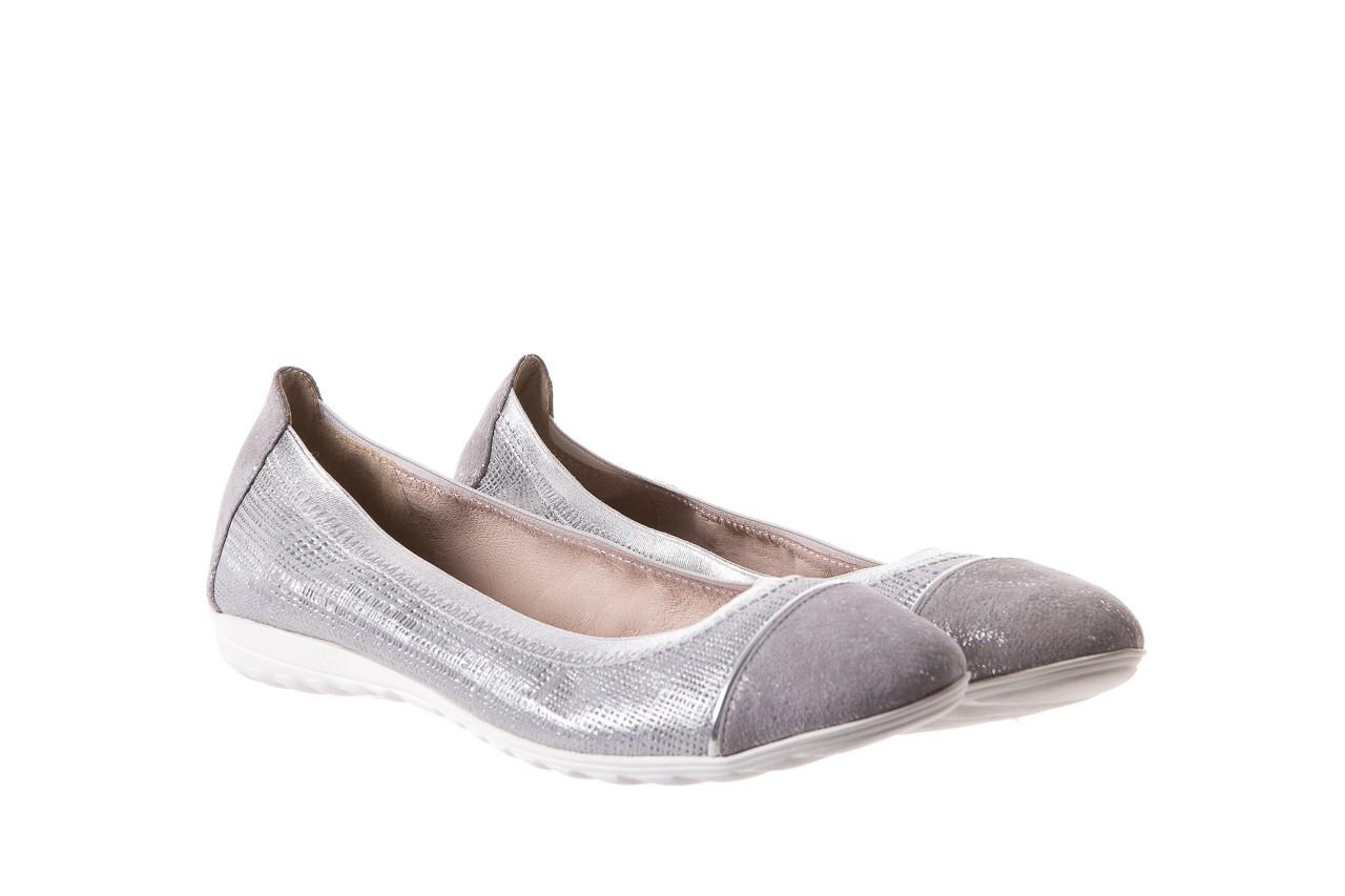 Baleriny bayla-018 1831-5 lt. grey lt. grey silver 018533, szary/srebrny, skóra naturalna 8