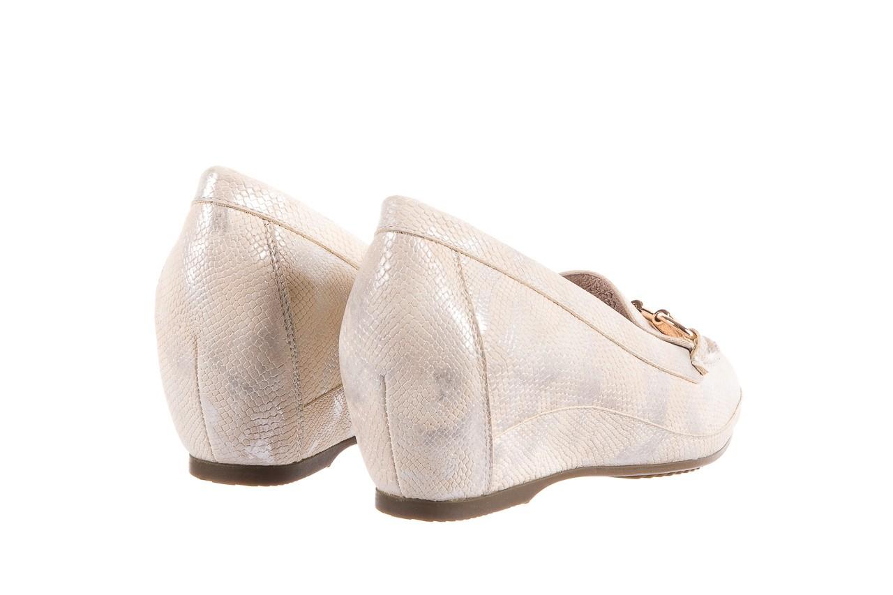 Mokasyny bayla-018 1647-29 beige silver 018521, beż, skóra naturalna 9