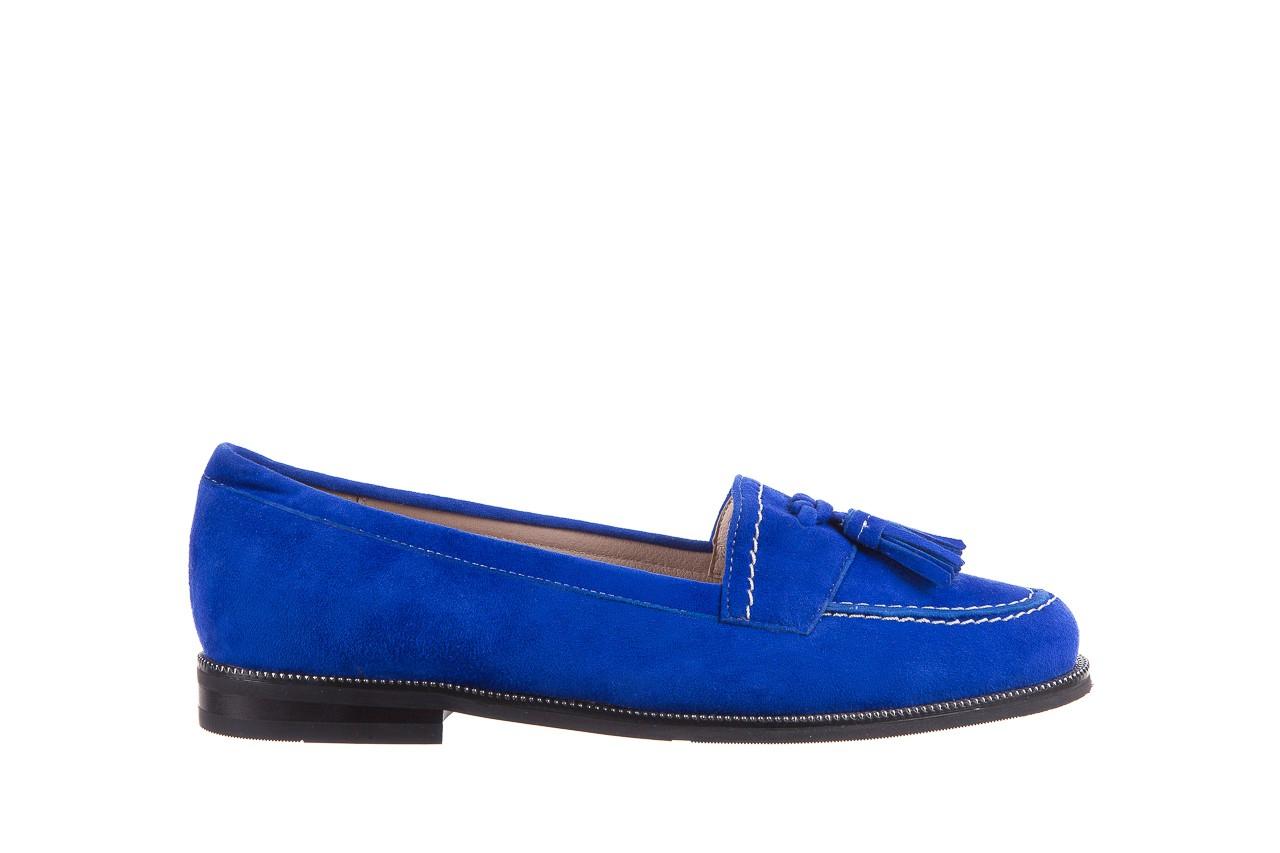 Lordsy bayla-018 1556-x7 royal blue 018516, niebieski, skóra naturalna  - mokasyny i lordsy - półbuty - buty damskie - kobieta 7