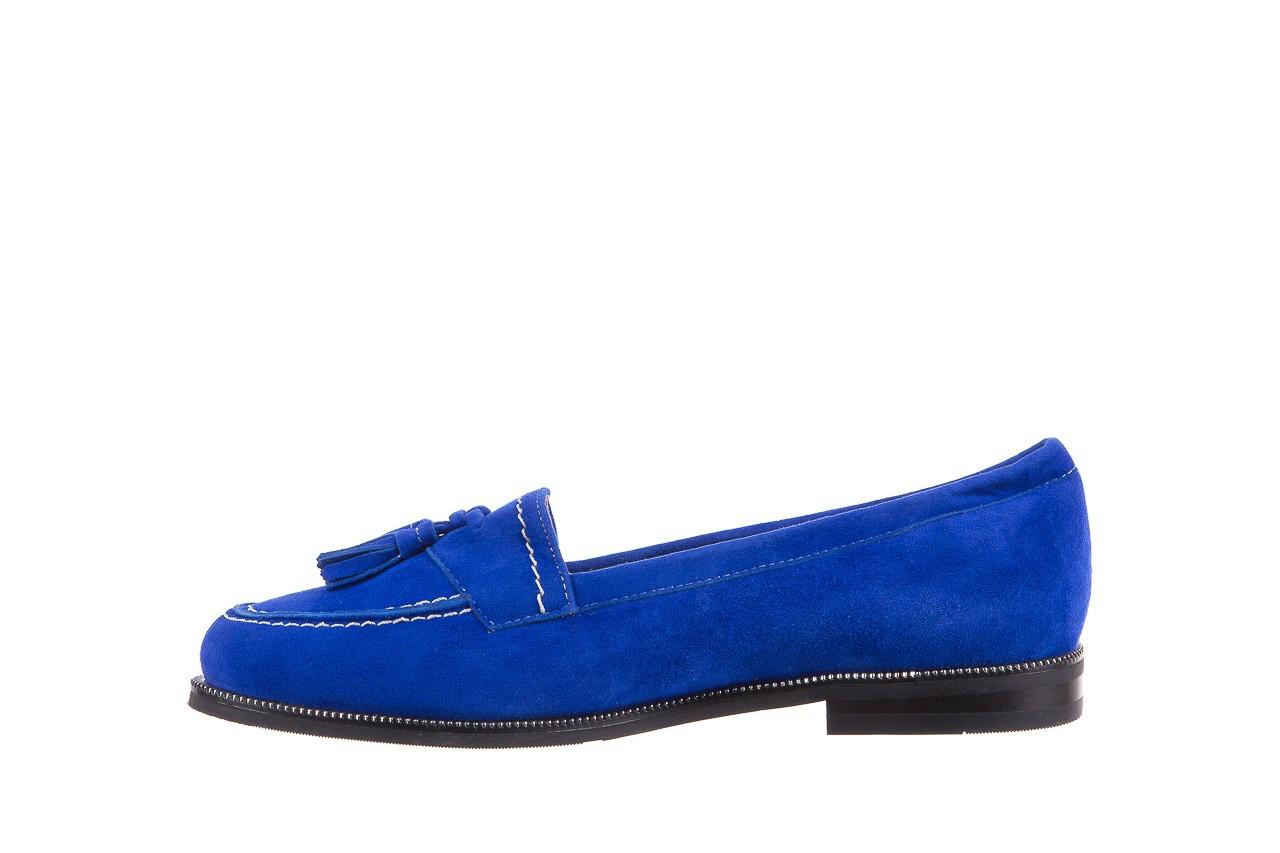Lordsy bayla-018 1556-x7 royal blue 018516, niebieski, skóra naturalna  - mokasyny i lordsy - półbuty - buty damskie - kobieta 9