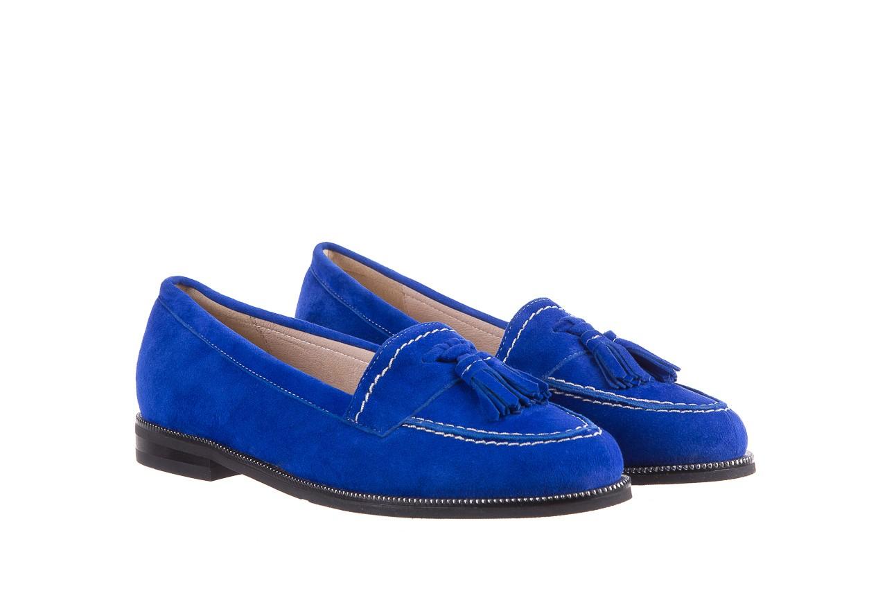Lordsy bayla-018 1556-x7 royal blue 018516, niebieski, skóra naturalna  - mokasyny i lordsy - półbuty - buty damskie - kobieta 8
