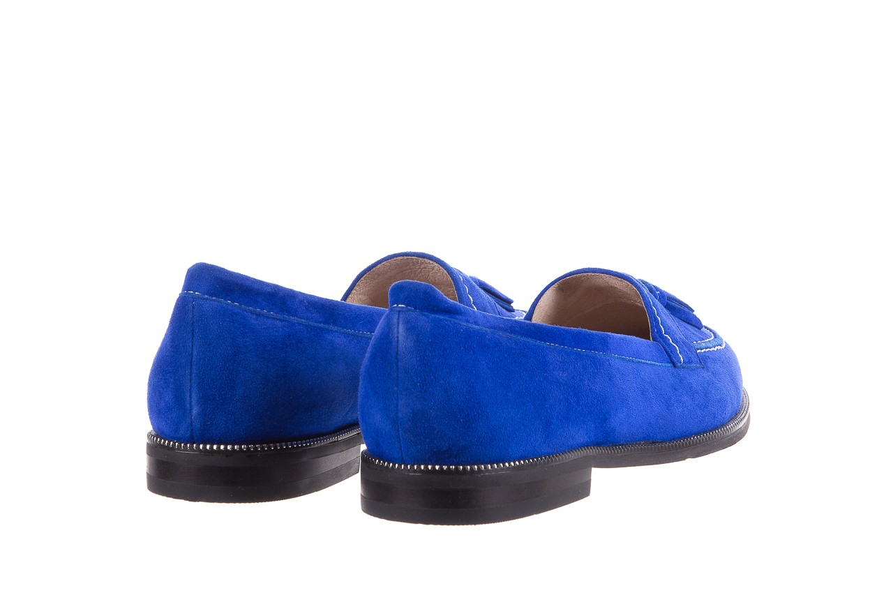Lordsy bayla-018 1556-x7 royal blue 018516, niebieski, skóra naturalna  - mokasyny i lordsy - półbuty - buty damskie - kobieta 10