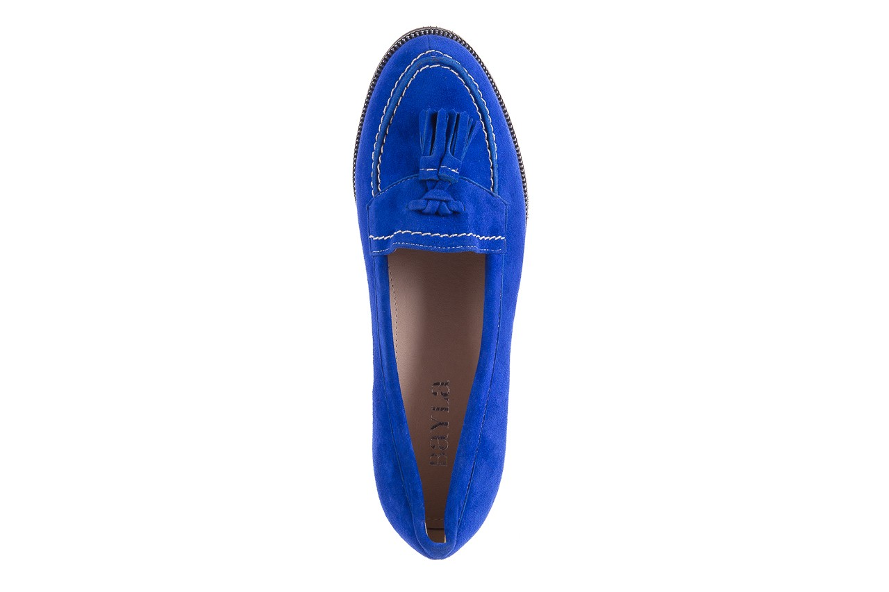 Lordsy bayla-018 1556-x7 royal blue 018516, niebieski, skóra naturalna  - mokasyny i lordsy - półbuty - buty damskie - kobieta 11