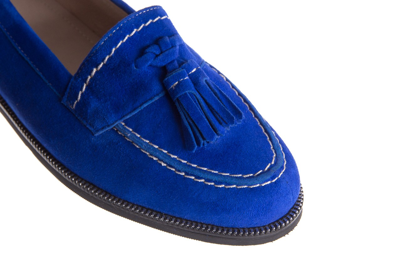 Lordsy bayla-018 1556-x7 royal blue 018516, niebieski, skóra naturalna  - mokasyny i lordsy - półbuty - buty damskie - kobieta 12