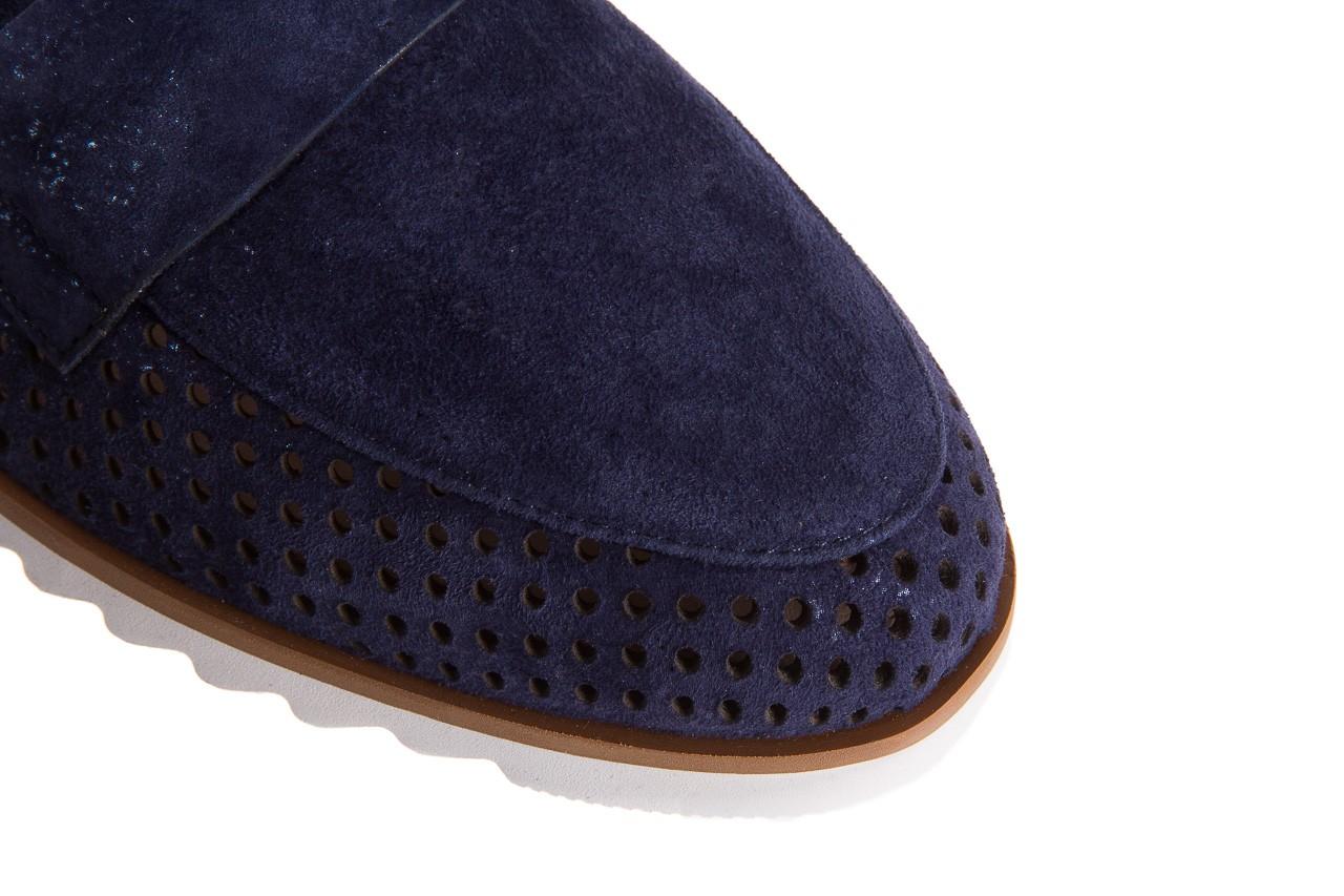 Mokasyny bayla-018 1133-x87 blue 018508, granat, skóra naturalna 12