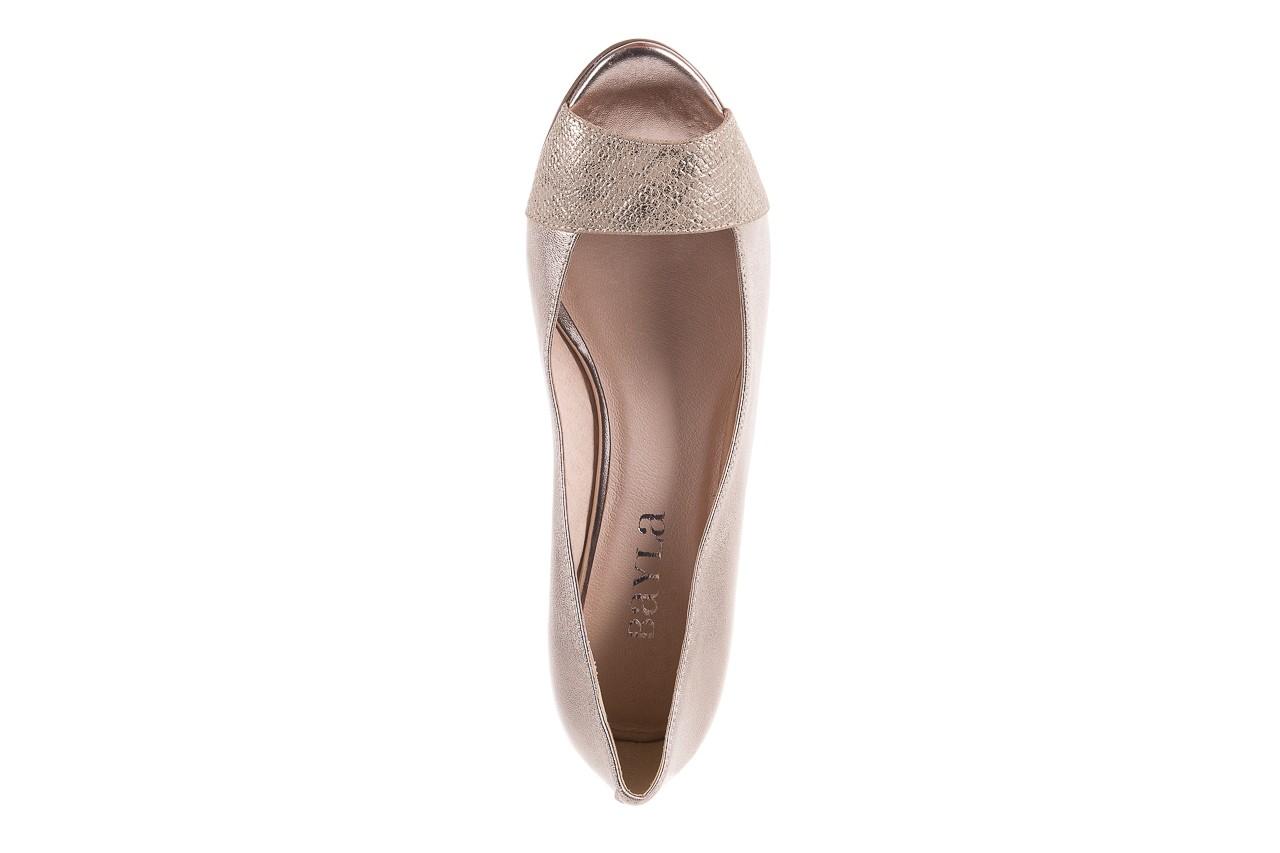 Baleriny bayla-018 1517-9 champagne lt. gold 018511, złoty, skóra naturalna  - na koturnie - czółenka - buty damskie - kobieta 11
