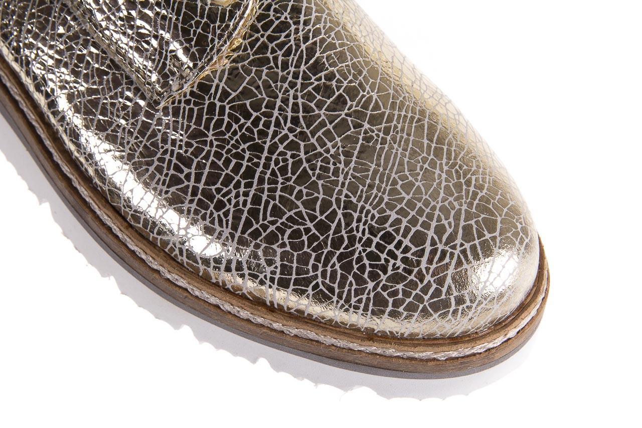 Półbuty bayla-018 1822-x1 lt. gold 018531, złoty, skóra naturalna lakierowana 12