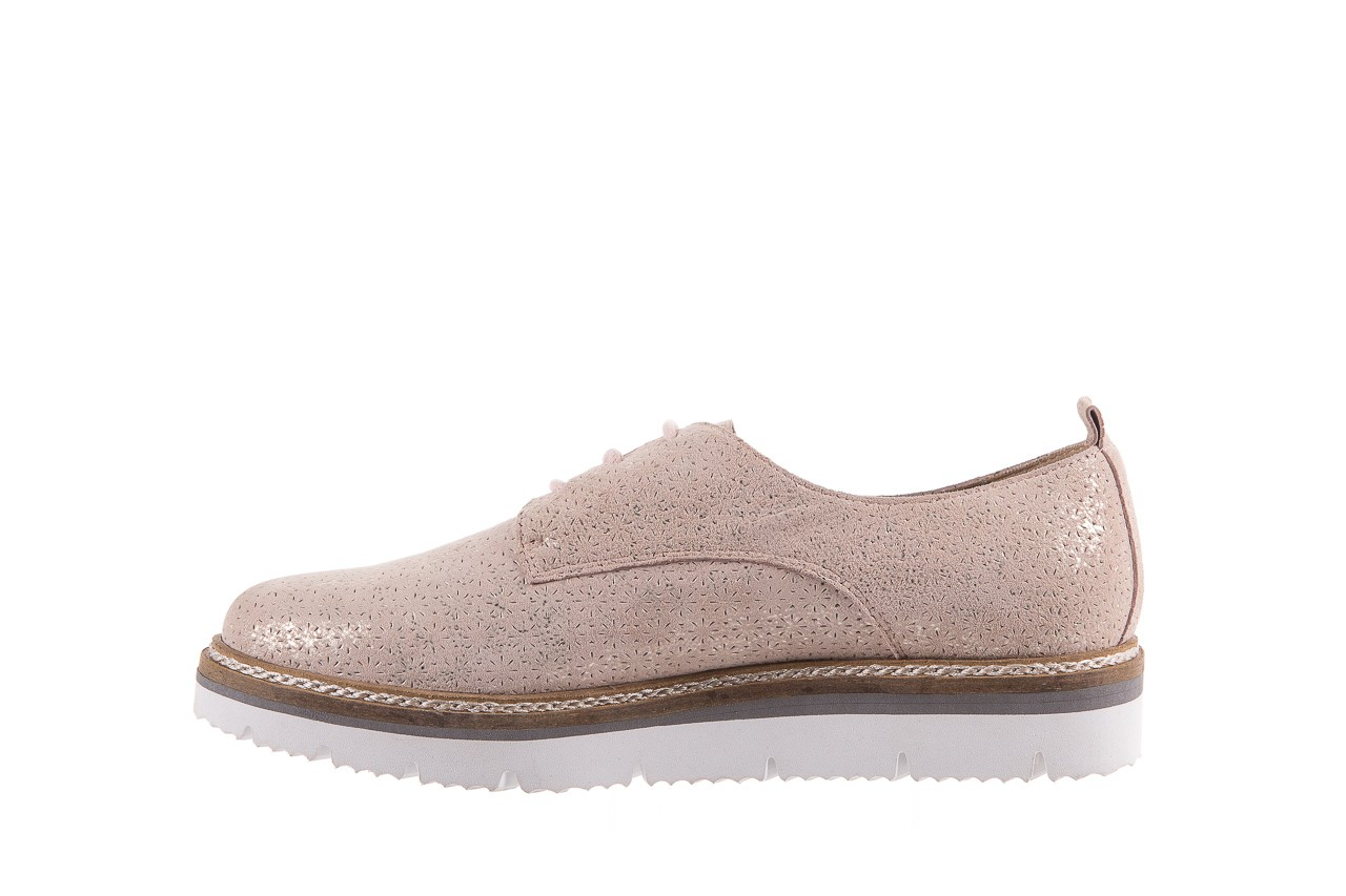 Półbuty bayla-018 1822-x1 nude 018532, beż, skóra naturalna  - zamszowe - półbuty - buty damskie - kobieta 10